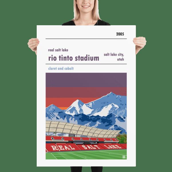 Massive football poster of Real Salt Lake and Rio Tinto Stadium