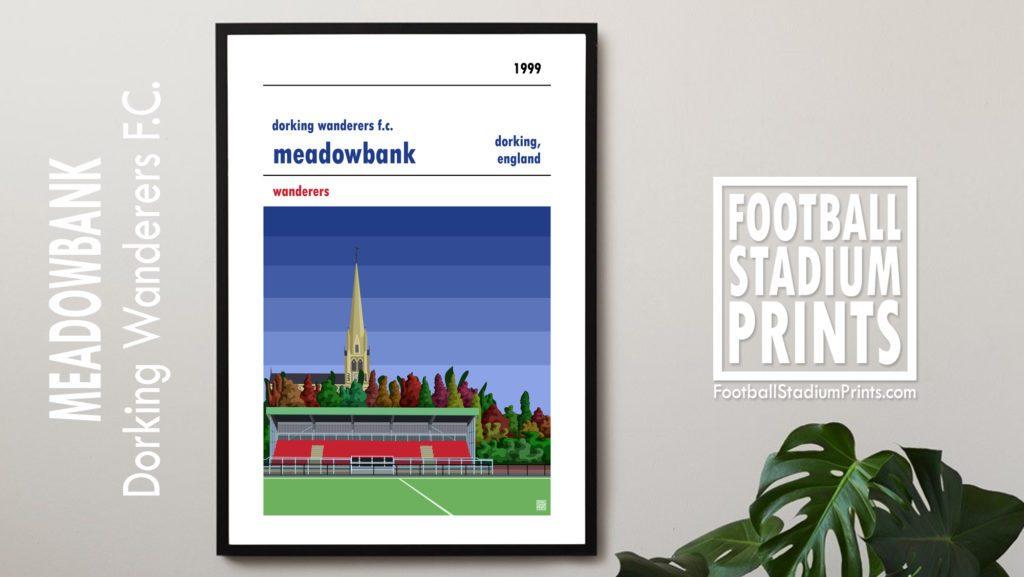 Hanging framed print of Dorking Wanderers FC