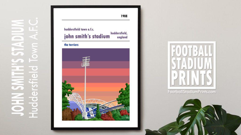 Hanging framed print of Huddersfield Town AFC