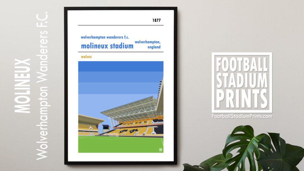 Hanging framed print of Wolves FC
