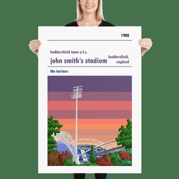 Massive John Smith's Stadium and Huddersfield Town AFC, Sunset football poster