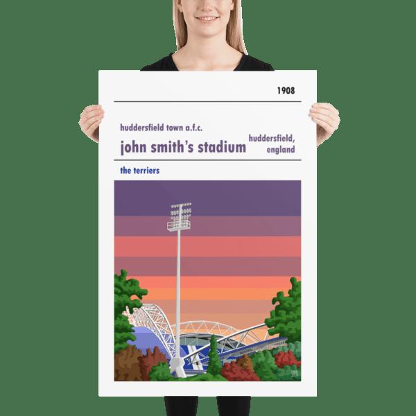 Huge John Smith's Stadium and Huddersfield Town AFC, Sunset football poster