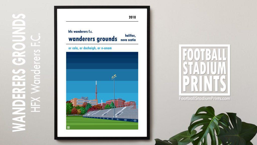 Hanging framed print of HFX Wanderers FC