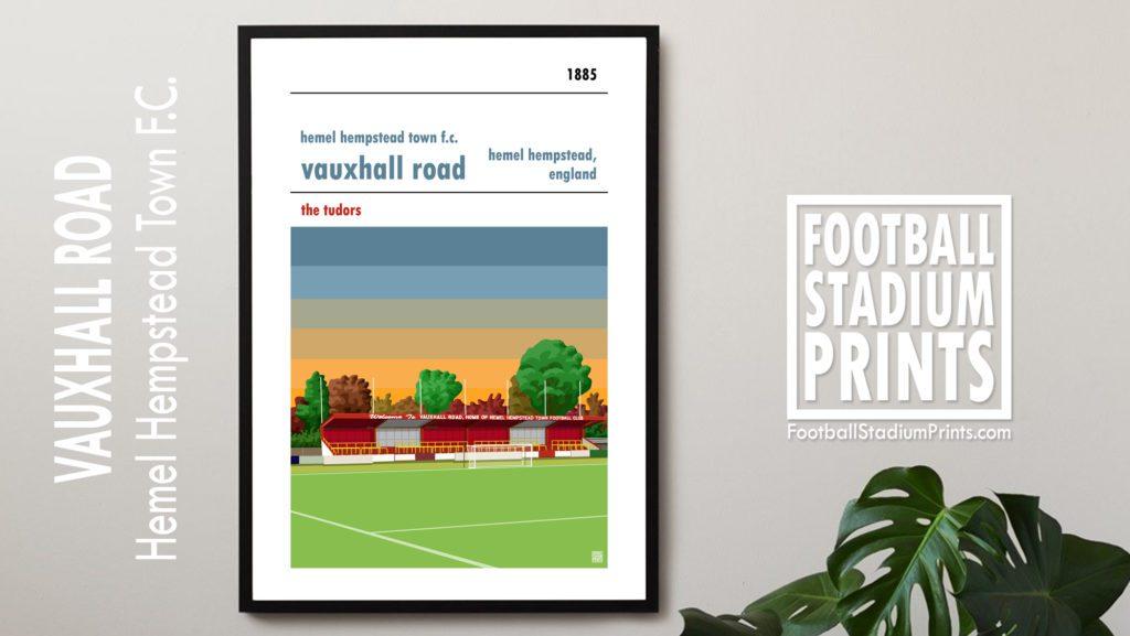 Framed print of Hemel Hempstead Town FC