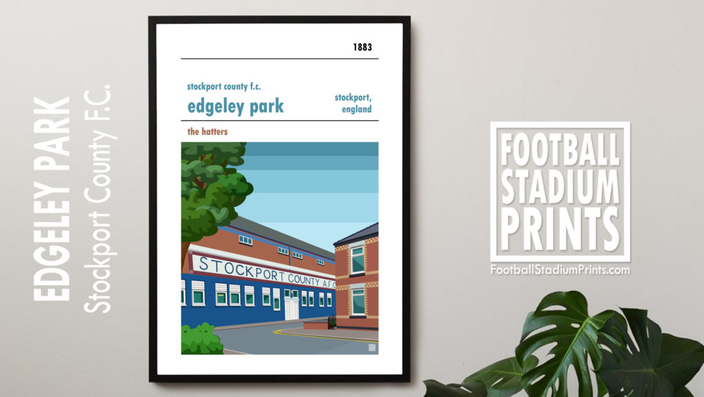 Hanging framed print of Stockport County FC