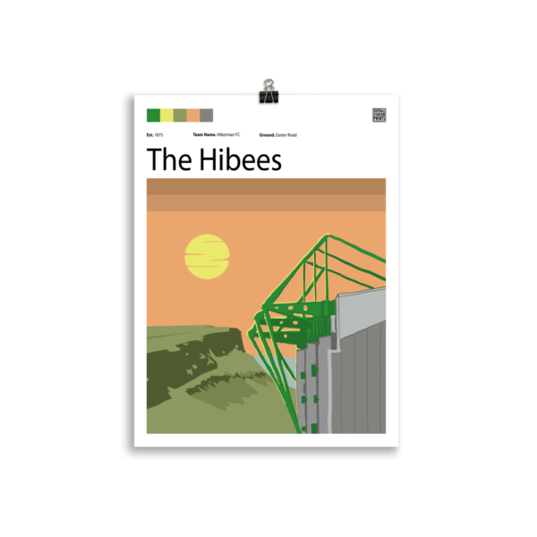 Limited Edition Easter Road and Hibernian print
