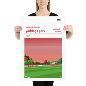 Large football poster of Whitchurch Alport FC and Yockings Park