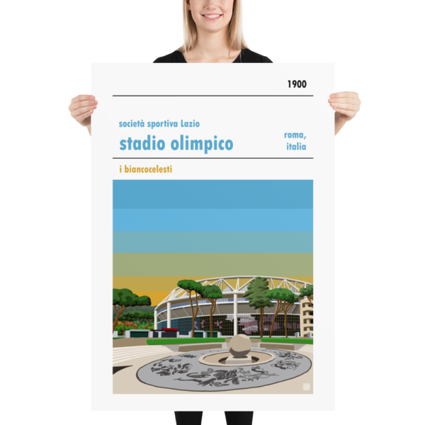 Massive football poster of Lazio and and Stadio Olimpico