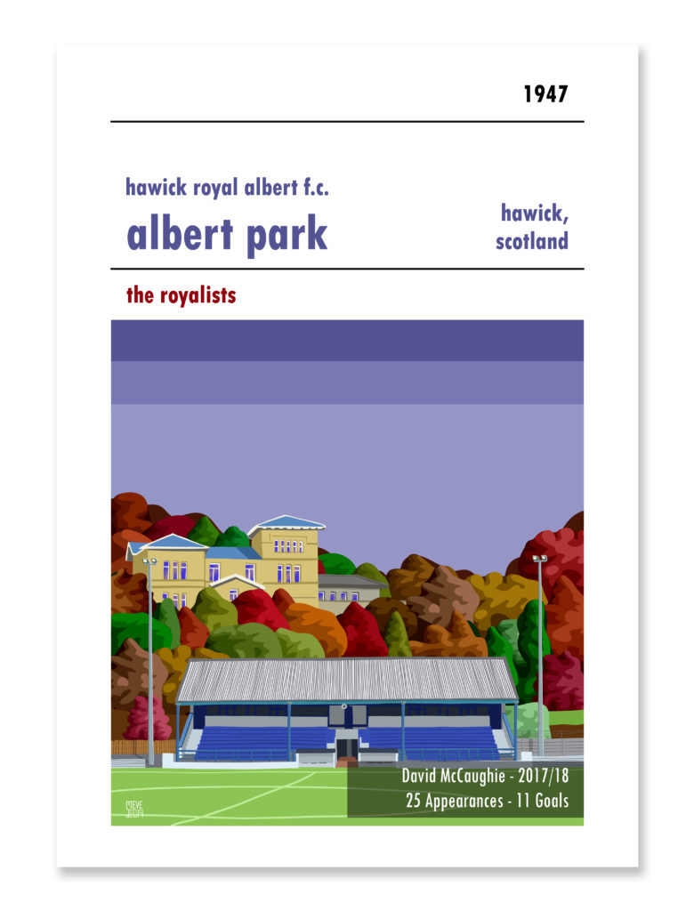 Personalised Hawick Albert Football Print