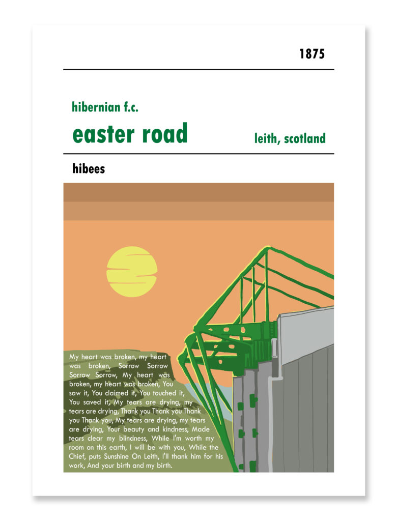 Personalised Hibs Football Print