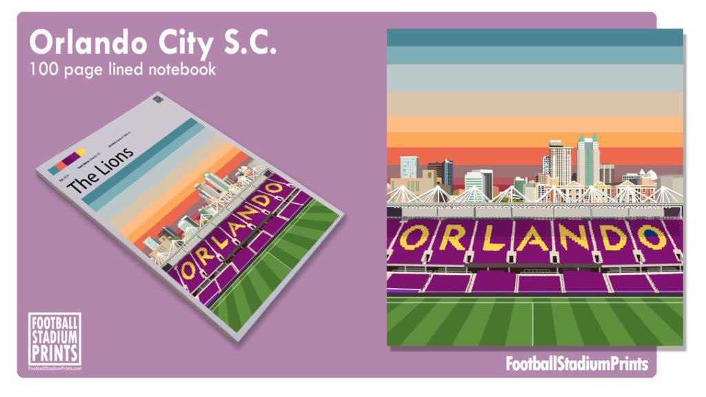 Orland City SC Football Print Notepad