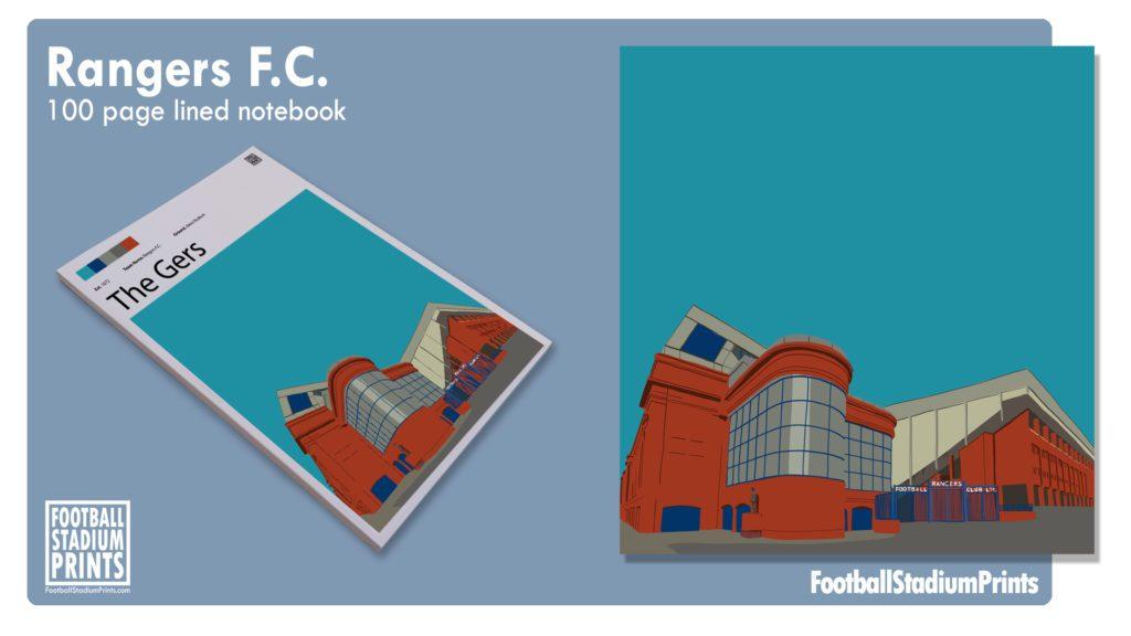 Rangers FC Football Print Notepad