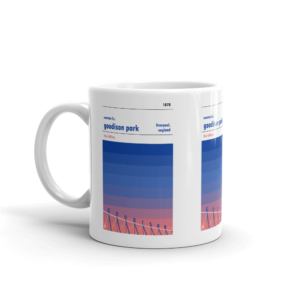 Everton and Goodison Park sunset Mug