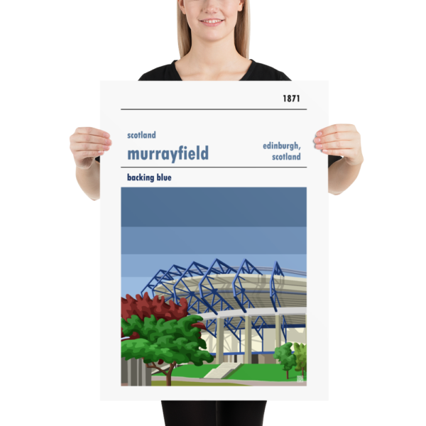Large rugby poster of Scotland and Murrayfield