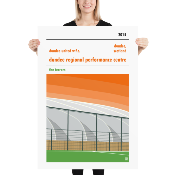 Massive poster of Dundee Regional Performance Centre and Dundee United WFC