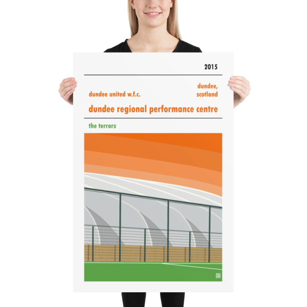 Huge poster of Dundee Regional Performance Centre and Dundee United WFC