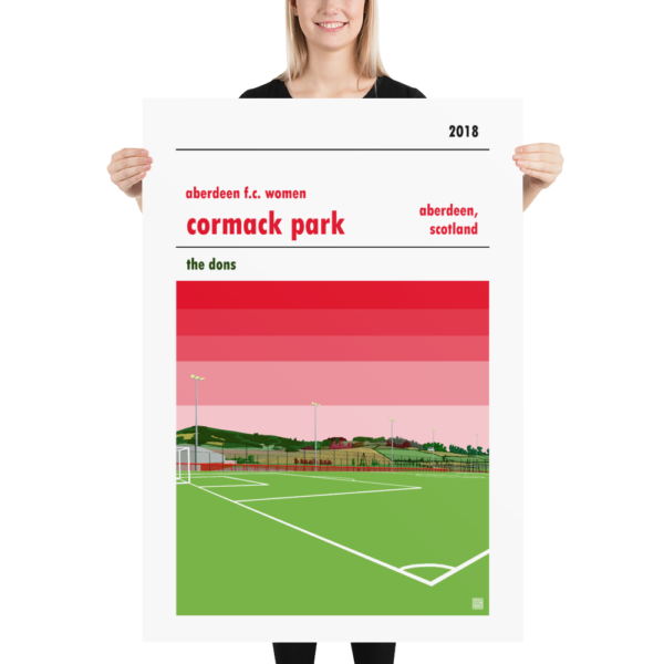 Massive football poster of Aberdeen LFC and Cormack Park