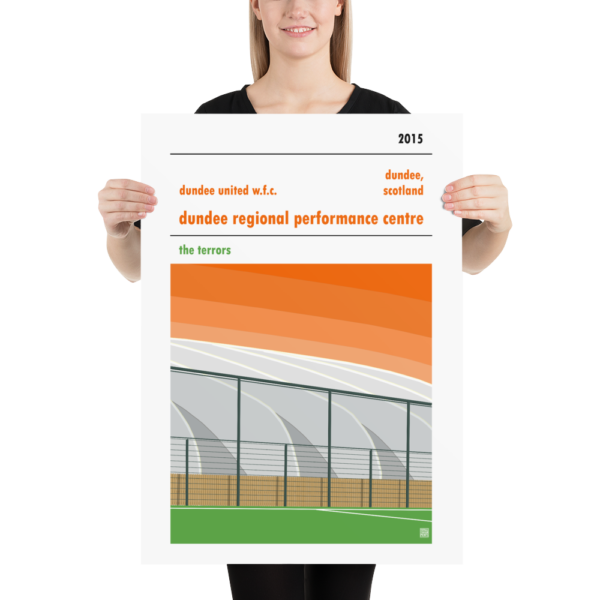Large poster of Dundee Regional Performance Centre and Dundee United WFC
