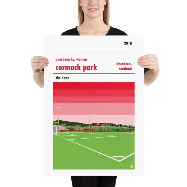 Large football poster of Aberdeen LFC and Cormack Park
