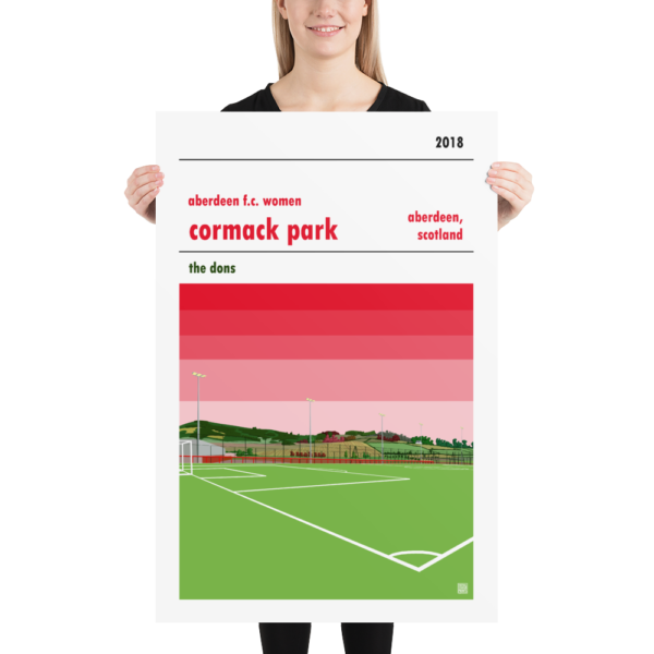 Huge football poster of Aberdeen LFC and Cormack Park