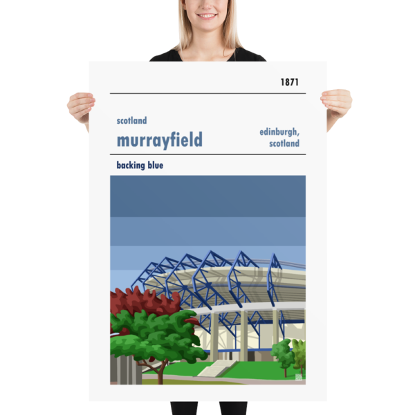 Massive rugby poster of Scotland and Murrayfield