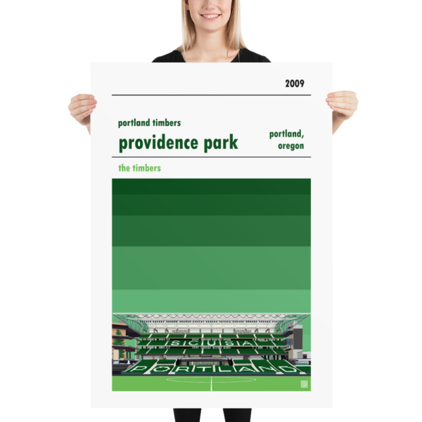 Massive football poster of Portland Timbers and Providence Park