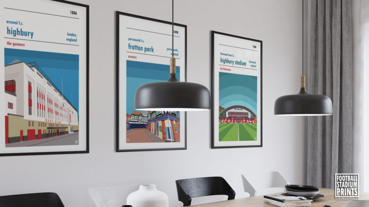 A boardroom with football prints