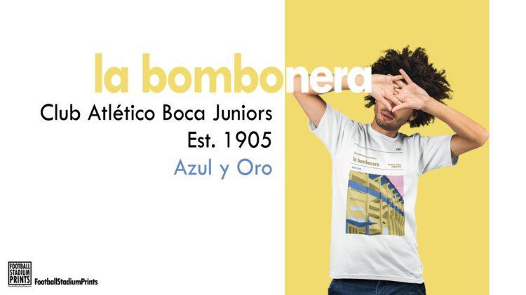 Hipster Boca Juniors and La Bombonera t-shirt