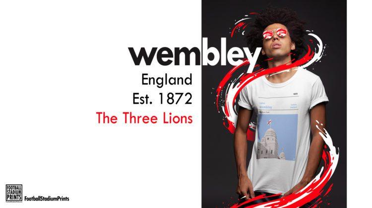 Wembley and England football t-shirt