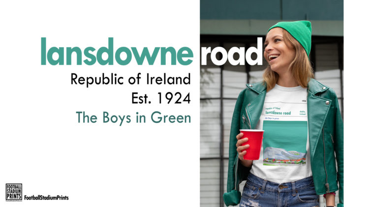Happy St Patricks Day with Lansdowne Road t-shirt