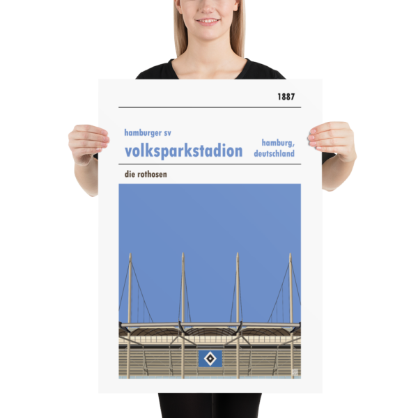 Large Hamburg SV and Volksparkstadion football poster