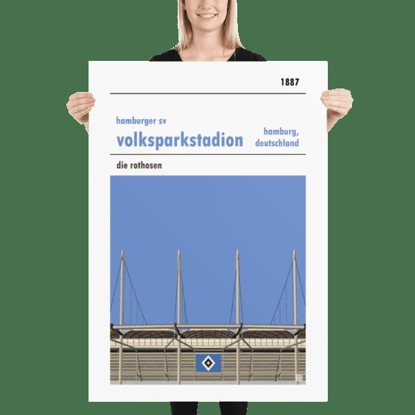 Massive Hamburg SV and Volksparkstadion football poster