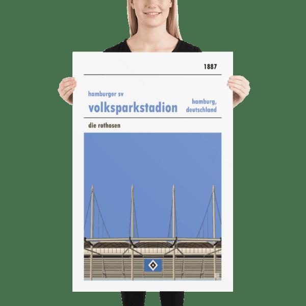 Huge Hamburg SV and Volksparkstadion football poster