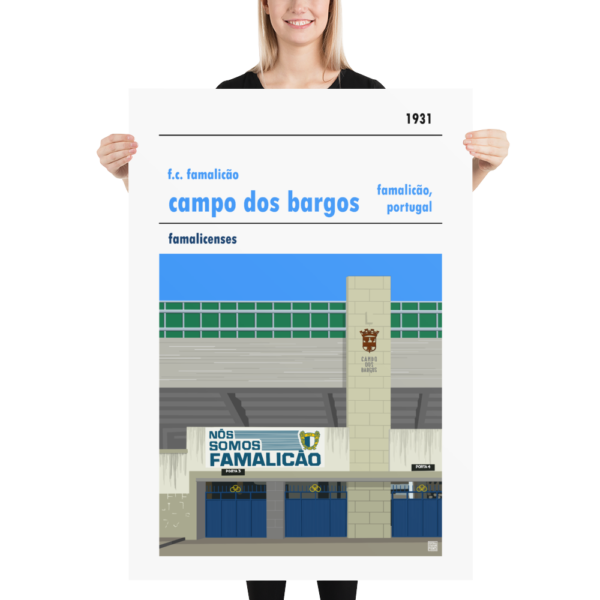 Massive football poster of F.C. Famalicão and Campo dos Bargos