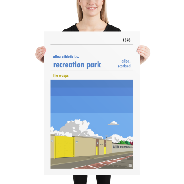 Huge Alloa Athletic and Recreation Park football poster