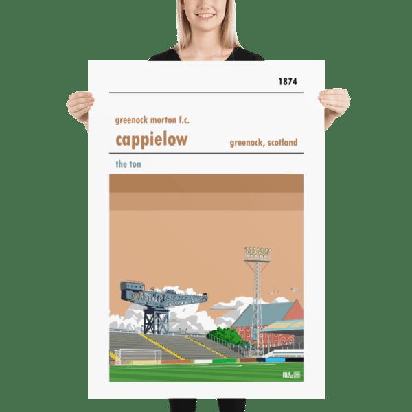 Massive Greenock Morton and Cappielow football poster