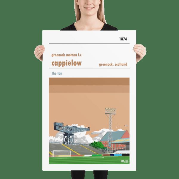Huge Greenock Morton and Cappielow football poster