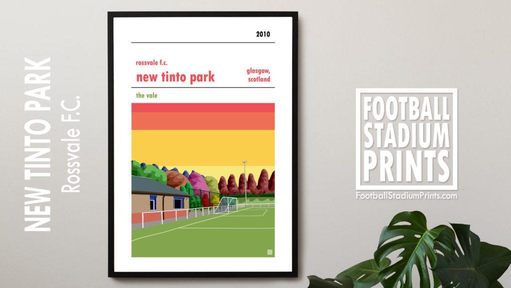 Framed Football Print of Rossvale FC
