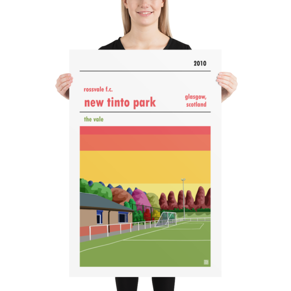 Huge Football Poster of Rossvale FC and New Tinto Park