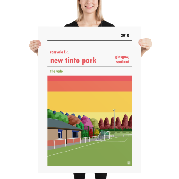 MAssive Football Poster of Rossvale FC and New Tinto Park