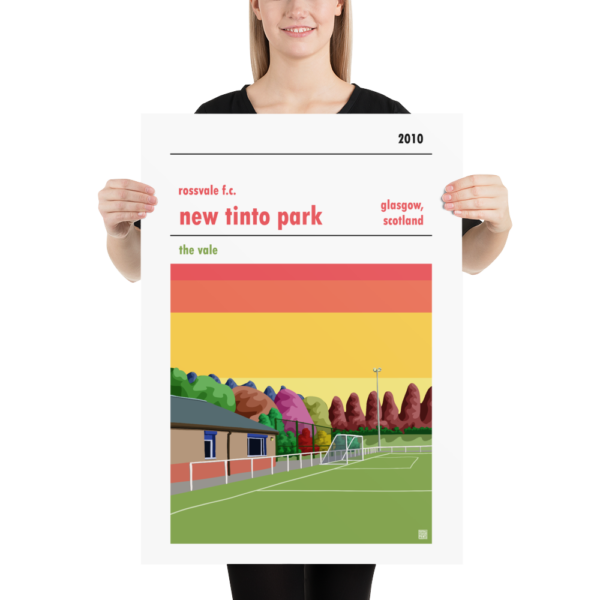 LArge Football Poster of Rossvale FC and New Tinto Park