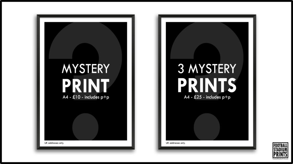 Mystery Football Prints from Football Stadium Prints