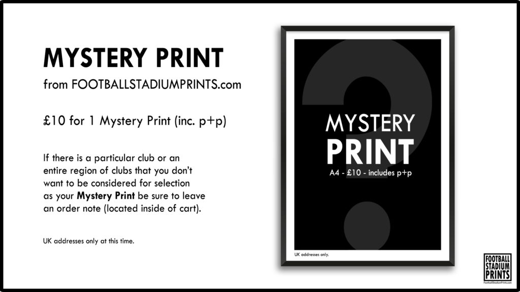 A4 Mystery Print from Football Stadium Prints