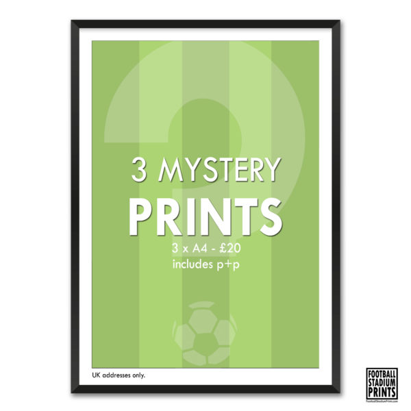 3 for 2 Mystery Prints from Football Stadium Prints