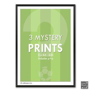 3 Mystery Prints from Football Stadium Prints