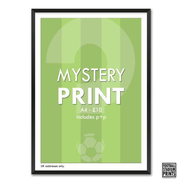 A4 Mystery Print from Football Stadium Prints