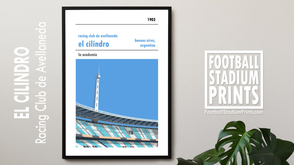 Framed football print of Racing Club de Avellaneda