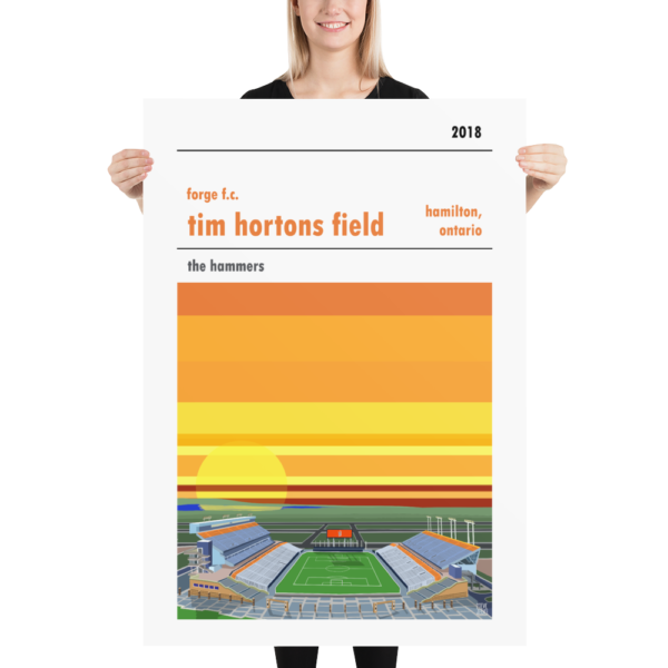 Massive Forge Hamilton and Tim Horton's Field football poster