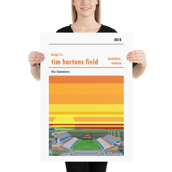 Large Forge Hamilton and Tim Horton's Field football poster