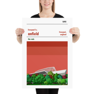 Large Football poster of Liverpool FC and Anfield